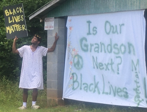 Amazing things are happening around our homemade Black Lives Matter sign