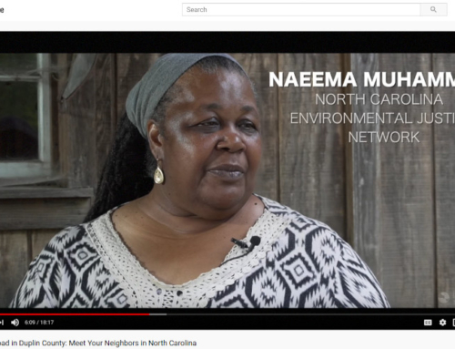 A video about NC industrial hog farms and what their neighbors endure.  Let's meet Naeema!