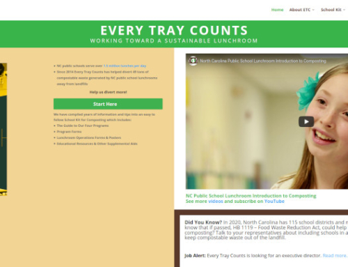 Every Tray Counts (ETC) is seeking a new Executive Director.  They work to move schools towards zero-waste