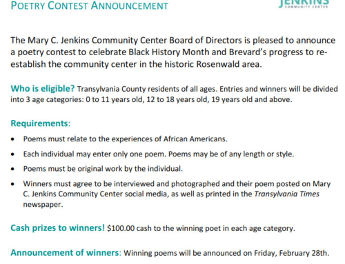Poetry Contest to honor Black History Month